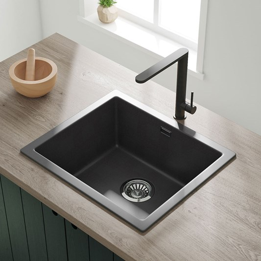 Vellamo Terra 1 Bowl Granite Composite Inset Undermount